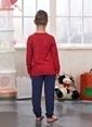 Sevim Baskılı Erkek Çocuk Pijama Takım Kırmızı